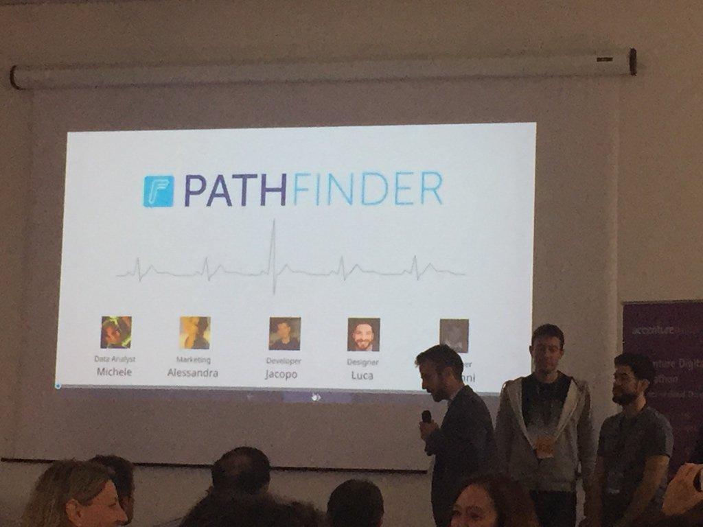 Prevenire è meglio che curare! PathFinder evolve i wearable! #accentureDigihack https://t.co/opd0gTqNp4