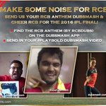 #PlayBold before the IPL final, cheer for the team with your own RCB Anthem Dubsmash! https://t.co/ZZnakJck1r
