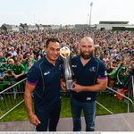 Connacht captain John Muldoon with coach Pat Lam during the Connacht homecoming in Sportsground. Photo @sportsfile https://t.co/7EdTURUakZ