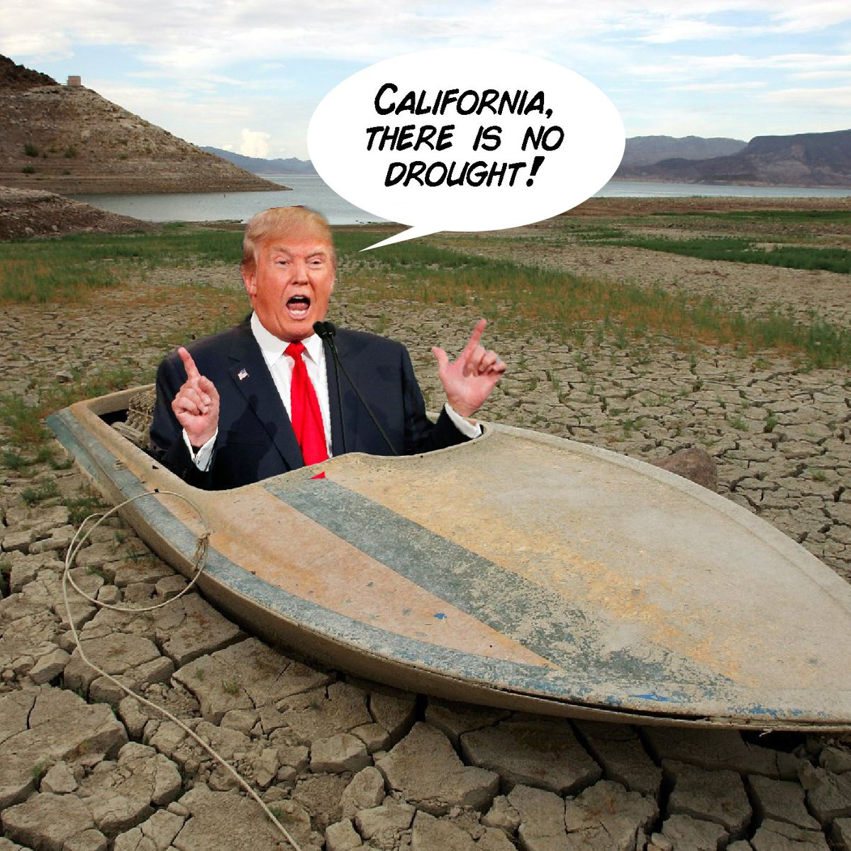 So, California, who are you going to believe, your dry lake beds or #ChickenTrump https://t.co/m6H2VTZ8eo