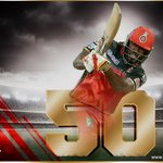 Gayle welcomes Henriques with a six over long on! Gets to 50 off 25b! #RCBvSRH #PlayBold https://t.co/vu5reAu2ln