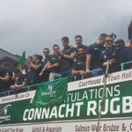 #WATCH The moment joyous Connacht fans serenade their history-making team in a Eyre Square - https://t.co/MLKYd4v95C https://t.co/CALMh2KQ3h