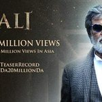 #Kabali Facebook Cover Pic #KabaliTeaser hits 20M Views Set A new record in Asia #மகிழ்ச்சி #KabaliNo1IndianTeaser https://t.co/0wEinWHWVY