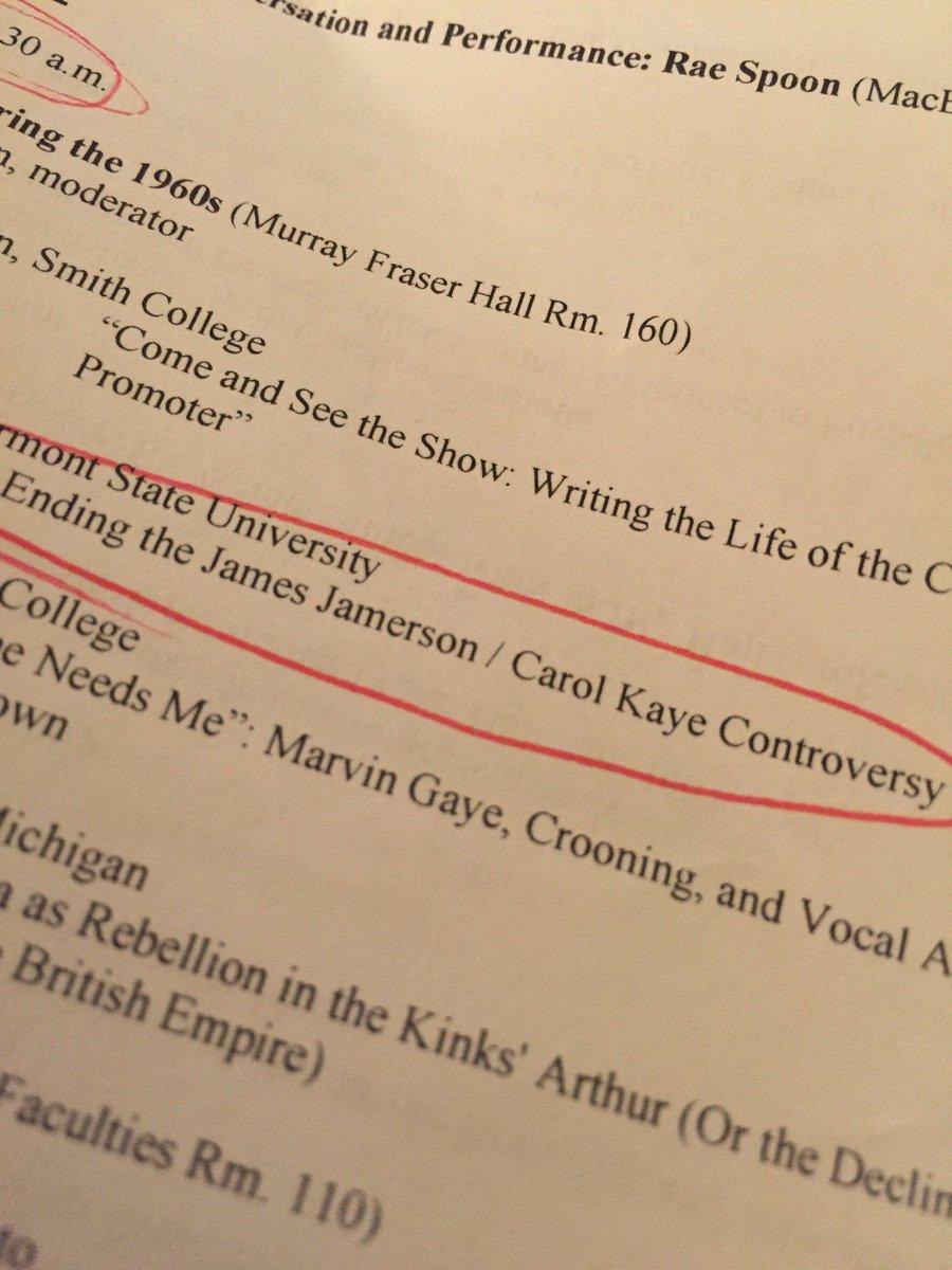 国際ポピュラー音楽学会アメリカ・カナダ支部合同年次大会に来ているのだが、プログラムを見て俄然楽しみにしていたのがこれ。もはや自分の発表よりもこれを聞くために来たといっても過言ではない。 https://t.co/LvGJ51w1d5