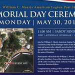 Join us for a Memorial Day Ceremony on the Riverwalk, 11a.m. Monday  https://t.co/Mx93dT9zaS https://t.co/eEIm5gsNk5