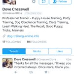This is a fake account. Not Dove @CresswellDove Please stop pretending to be this woman. Shes been through enough. https://t.co/okTJF6Ofcd