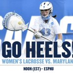 Here we go! Womens Lax at Noon today on ESPNU for the NCAA Championship! GO HEELS!!! https://t.co/wZsAFPhl04