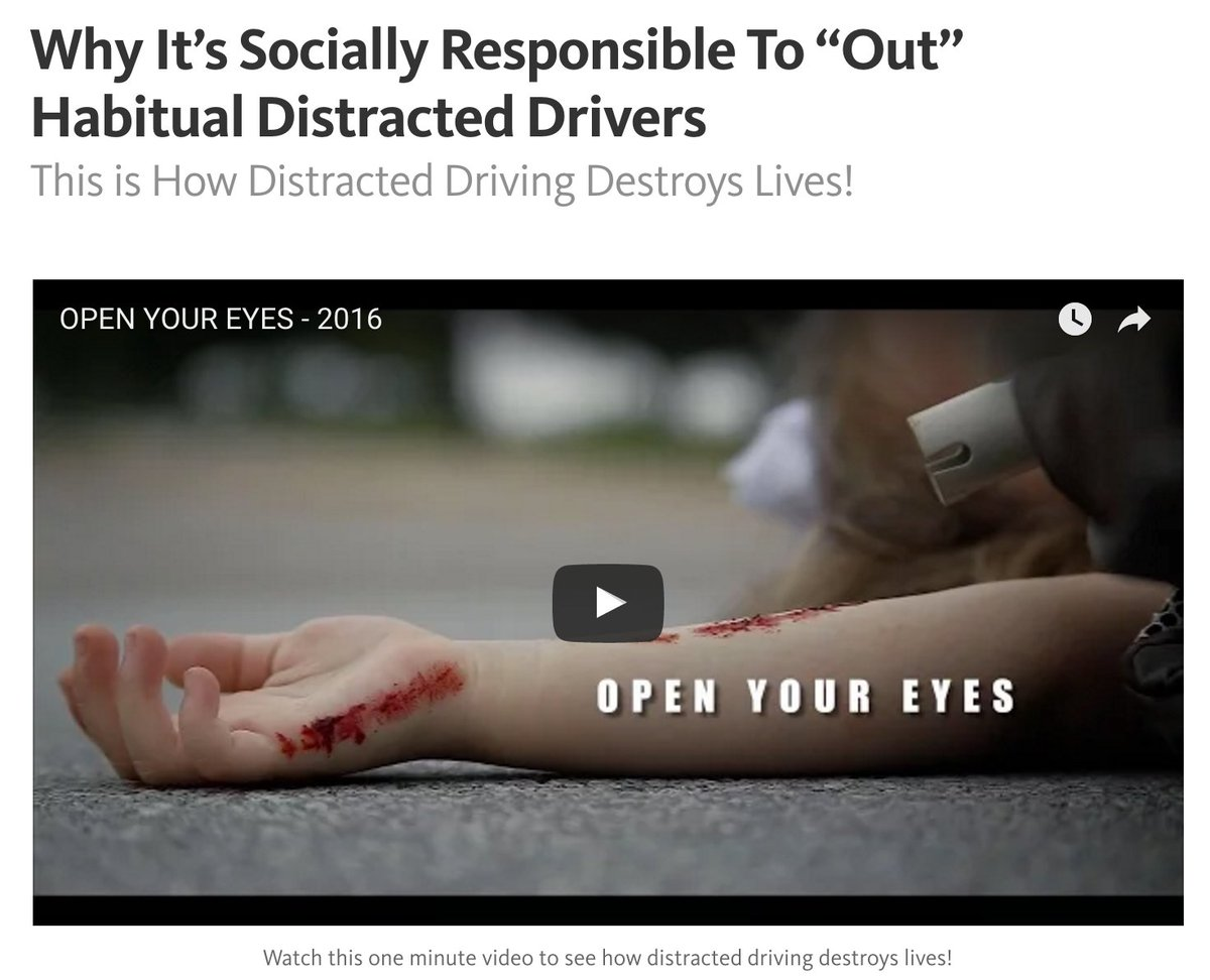 My new post on Medium about distracted driving (videos and links) https://t.co/gMLE6dgvUW (please share) https://t.co/WONcouUwaw