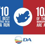 9 of the 10 best-run municipalities are DA-run!   Let us bring that success to eThekwini.  #electionsdebate https://t.co/ugJNZ11hTo