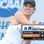 No. 2 Danielle Collins advances to #NCAATennis singles finals with Sunday win. #GoHoos https://t.co/rW8XwsS4fc https://t.co/A31lLollUa