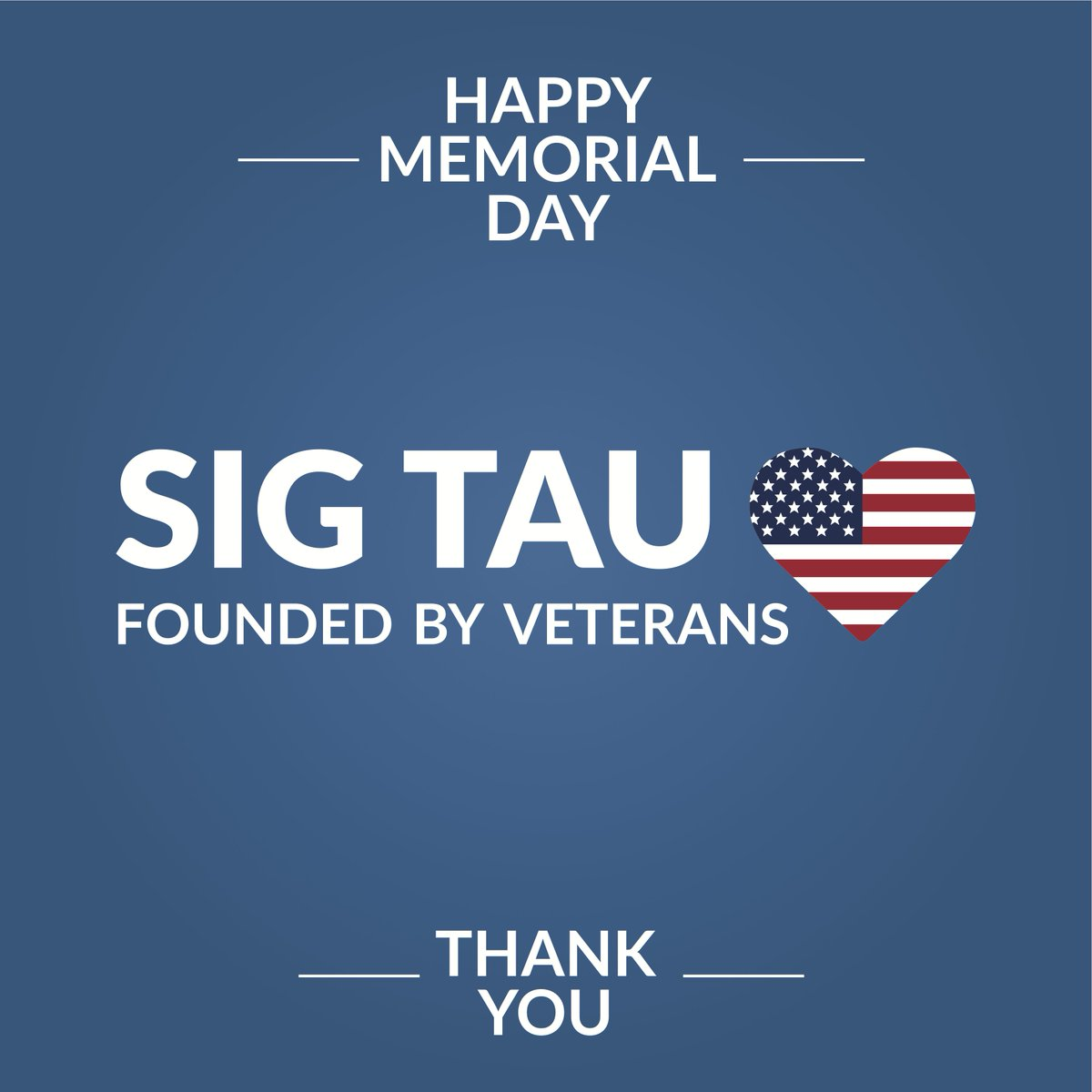 HUMBLED Today we pause to remember the men and women who made the ultimate sacrifice. #MemorialDay #SigTau https://t.co/5hnOuYfNt7