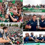 The party continues in the west for @connachtrugby and their fans as they enjoy the open top bus parade in Galway! https://t.co/EpBIPgCNVv