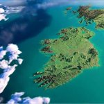 Now to be fair doesnt she look like a stunning tropical Island????. #Ireland at her best this morning #NASA #Cork https://t.co/BMMp4NeSMj