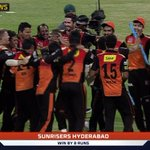 BREAKING: Sunrisers Hyderabad win their first ever IPL final by 8 runs. #SSNHQ https://t.co/cRbsc9mPzx