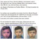 #AlerteEnlevement RT un Max pour retrouver ses 3 enfants dont la mère a été retrouvée morte ce matin ???? https://t.co/G7U2Ge4GXm