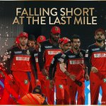 A very disappointing result after a month of cricket that went beyond our wildest imaginations #RCBvSRH #PlayBold https://t.co/I2GvUFIz2x