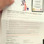 One of 12k letters hitting the doormats of #Peterborough this weekend as part of our @vote_leave GOTPV operation https://t.co/F6IYJqUDCw