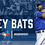 Scoreless no more! @JoeyBats19 hits one off the foul pole to make it a 2-0 game! #OurMoment https://t.co/LXaYjM8Doh