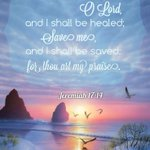 Jeremiah 17:14   Heal me, O Lord, and I shall be healed; Save me and I shall be saved: for thou art my praise https://t.co/FmXvguAQqW