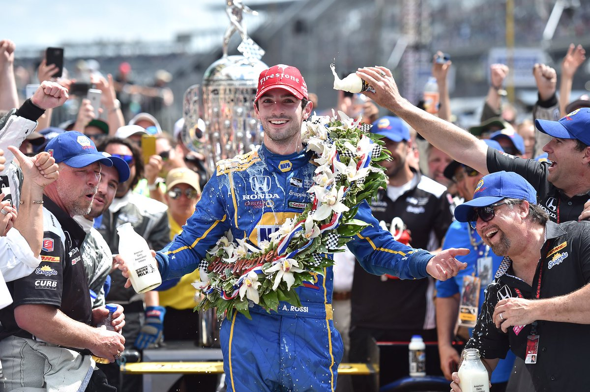 Congrats to @AlexanderRossi @FollowAndretti and @HondaRacing_HPD on winning the 100th #Indy500 https://t.co/ds9ueCTwgQ