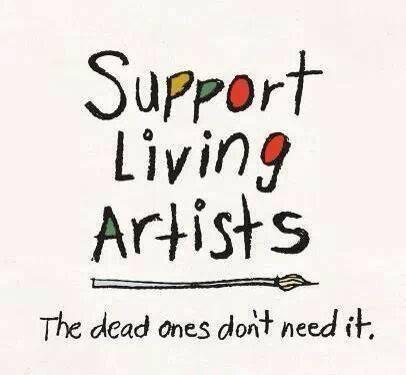 The dead ones don't need it...  #art #artists #smallbusiness #buylocal https://t.co/pKayWybsig