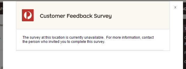 """Clicked a link on the Auspost site that popped up saying """"Do our survey! It important!""""  Got this.  Good job. https://t.co/P72lxarC65"""