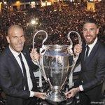 🏆 #LaUndecima 💪 Entrenador y Capitán   🇫🇷 Zinedine Zidane 🇪🇸 @SergioRamos   #HalaMadrid https://t.co/tF3csQR5Rq