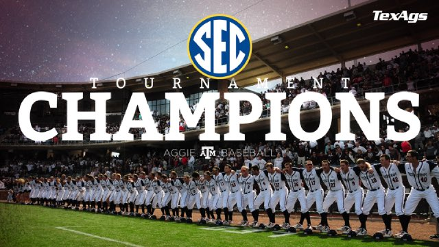 Your Fightin' Texas Aggies are SEC Baseball Champions for the first time ever. https://t.co/6948bVh6gD