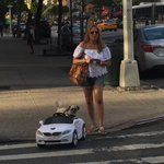 As seen on the Upper East Side: a lady driving her dog around in a radio-controlled BMW https://t.co/pT79xRrPvr