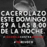 Que Maduro escuche que el pueblo quiere Revocatorio. #CacerolazoAlasOcho en rechazo a este gobierno https://t.co/bYXn65cmMh