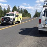 More crews arriving on scene. Fire moving toward Air Force Facility #kxly https://t.co/lVfc5uXE32