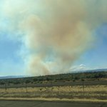 Wildfire prompts evacuations in Grant Co. near the #Gorge, where Sasquatch underway. [Pic.: Ana Becerra from I-90] https://t.co/clLAjhbWly