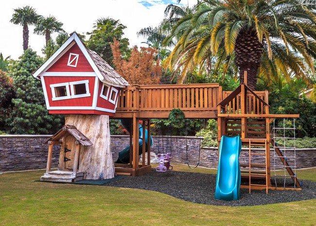 Домик для детской площадки своими руками и идеи