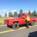 Fire Boss says 10 acres and holding - 2 outbuildings lost. Winds are a challenge. #KXLY https://t.co/AadEBnGlEj