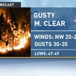Firefighters battling a fire near the Gorge are up against windy conditions. Gusts up to 30-35 mph this evening. https://t.co/RP6e7mBqCW