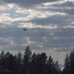 There is less smoke in the air as the helicopter continues to saturate the area #kxly https://t.co/yXSkGQHeIW