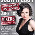 See @JudithLucy2 at Jokers in a special event show in #Hobart on June 10. Book now! https://t.co/BFs74R5GsX https://t.co/rUCsDoj1mt