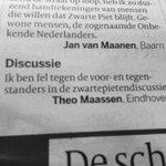 Theo Maassen levert vandaag in #Vk bijdrage aan de #zwartepietpraat. https://t.co/YTs6YYBalb