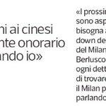Silvio akan menjual 70% Milan kep konsorsium China, stay sebagai presiden kehormatan dan pertahankan Brochhi. https://t.co/ueGI6Ns6Bi