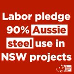 Great result for our campaign to use Aussie steel in Aussie projects. Time for action at a federal level #ausvotes https://t.co/C4wq1YgKwG