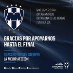 Gracias por apoyarnos hasta el final. #RayadosUnidos #EnLaVidayEnLaCancha. https://t.co/m1carcWTYI