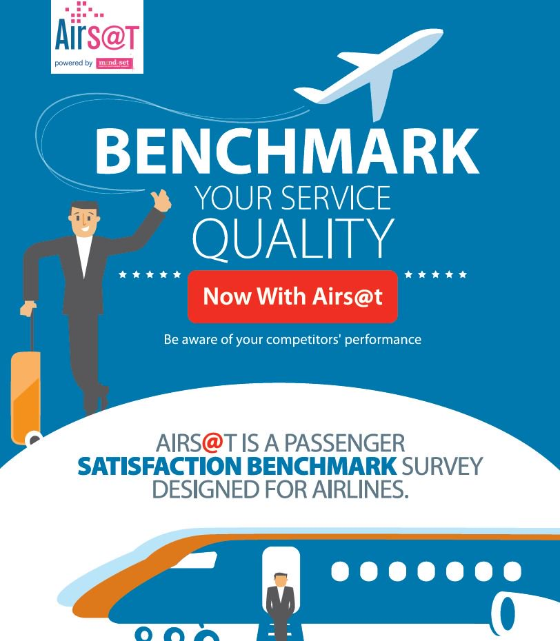 Airlines, benchmark your service quality w/ Airs@t passenger satisfaction survey