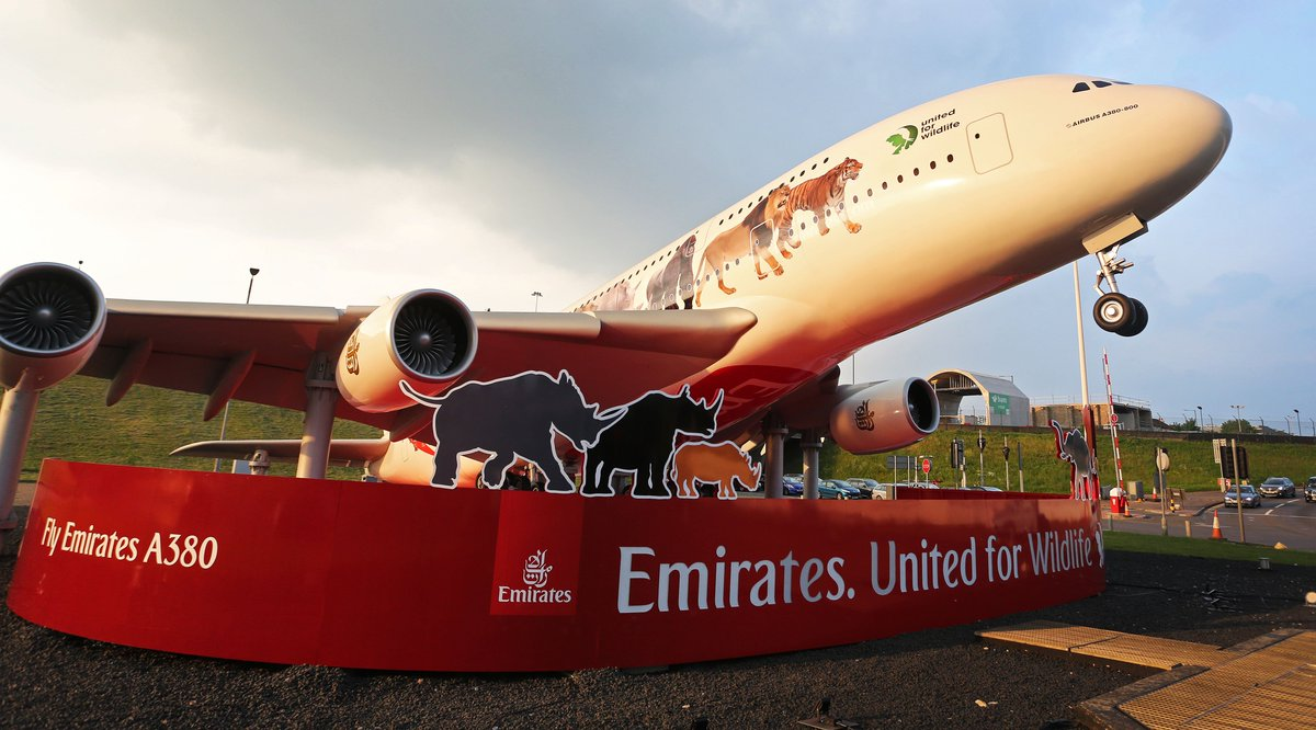 RT @emirates: Our message against illegal wildlife trade lands @HeathrowAirport roundabout