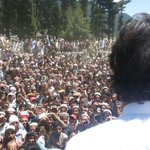 Chairman Imran Khan on visit to Kumrat, thousands have gathered to listen to their True Leader https://t.co/OOI9G5LwQ3