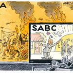 The SABC wont broadcast violent protests now? SABC For Number One Cartoon by @zapiro https://t.co/s97QoDUd2G https://t.co/cz44KxTmzM