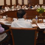 At a high level meeting today, reviewed progress in railways & roads sector. https://t.co/tIkwVCWCDa https://t.co/EQklrn75j2