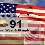 Memorial Day forecast for #SWFL! Morning & early afternoon look good for outdoor plans, but inland storms after 2pm. https://t.co/WGTTBHvu69