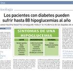 Los pacientes con #diabetESP pueden sufrir hasta 88 #hipoglucemias al año vía @el_pais https://t.co/RxHuLk5mhB