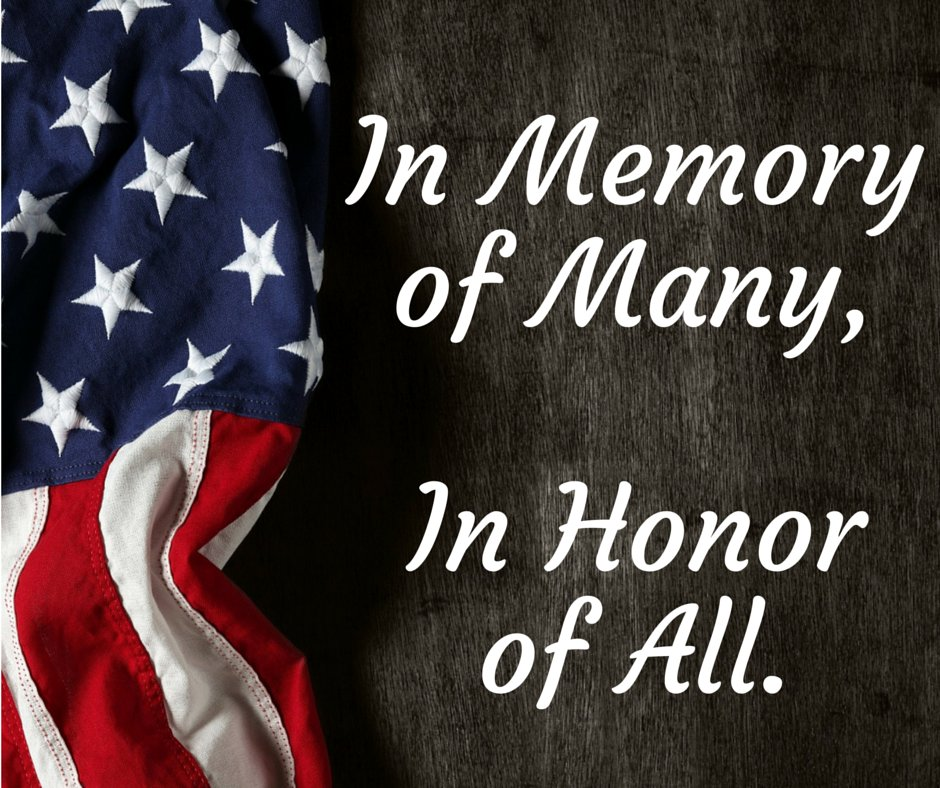 Today and everyday we honor our heroes. This Memorial Day please join us in thanking them for their service. https://t.co/tSwgCniCwu