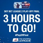 Excited, @AFCWimbledon and @Only1Argyle? The #PlayOffFinal will be under way in three hours! https://t.co/GOs4ynLMIP
